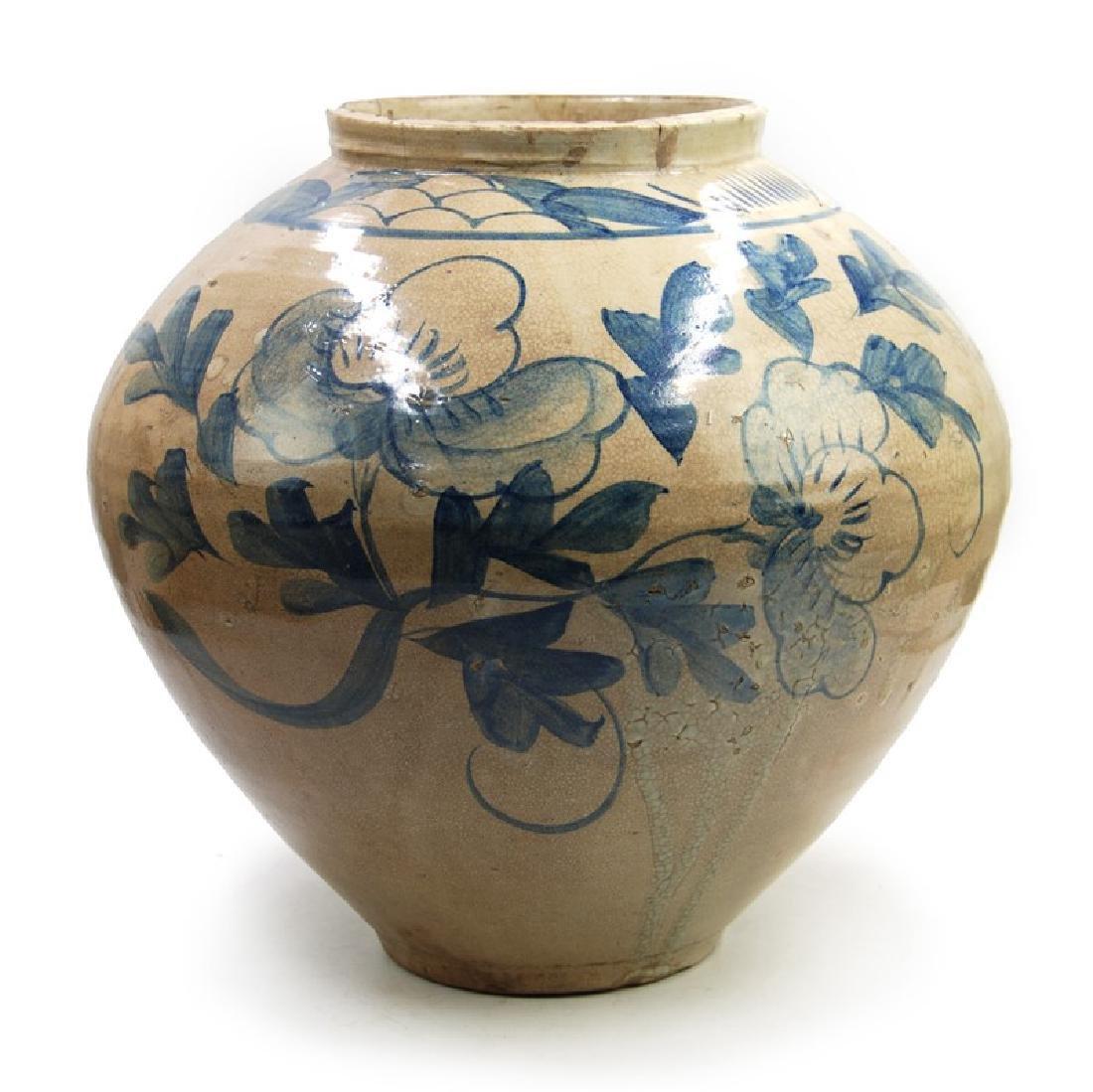 KOREAN MOON JAR BLUE DETAIL