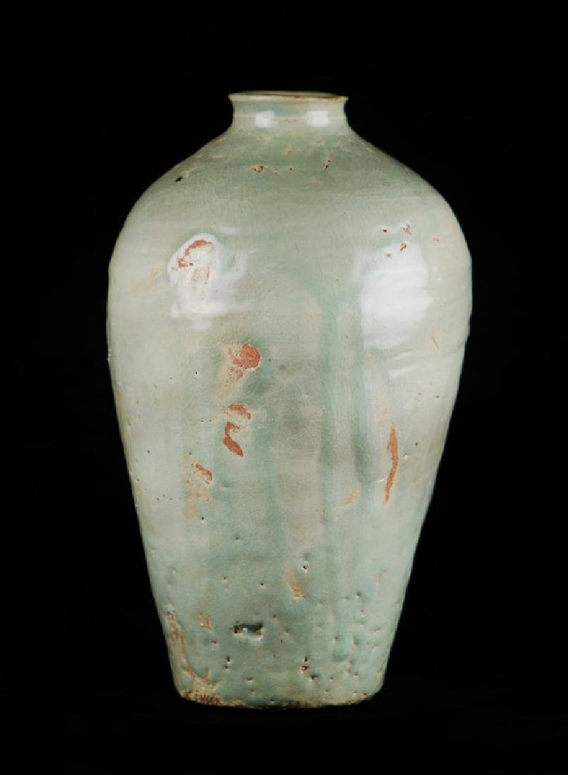KOREAN THICK GLAZE PLUM VASE, GORYEO DYNASTY (918-1392)