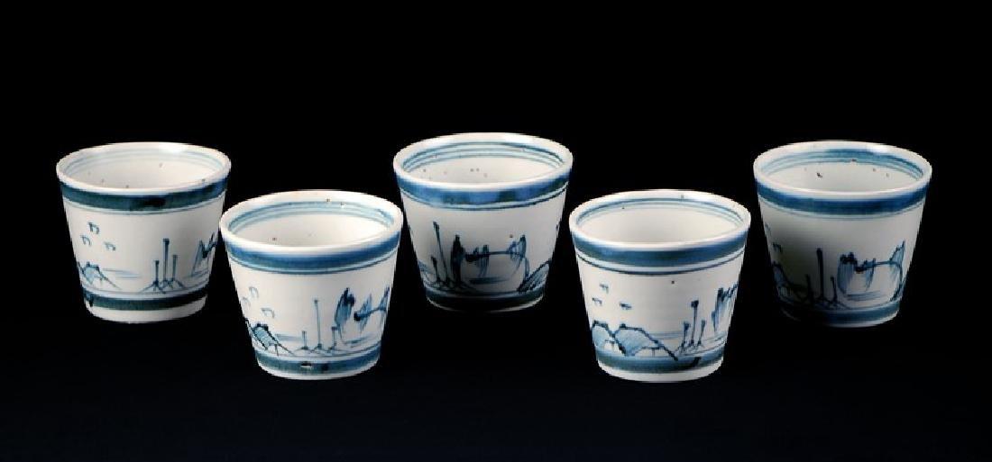 SOBA CUPS; EDO PERIOD (1603-1867) - 2