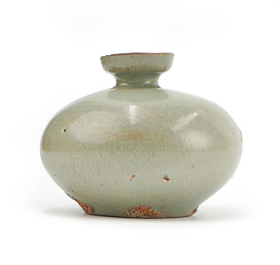 KOREAN CELADON OIL FLASK; GORYEO DYNASTY (918-1392)