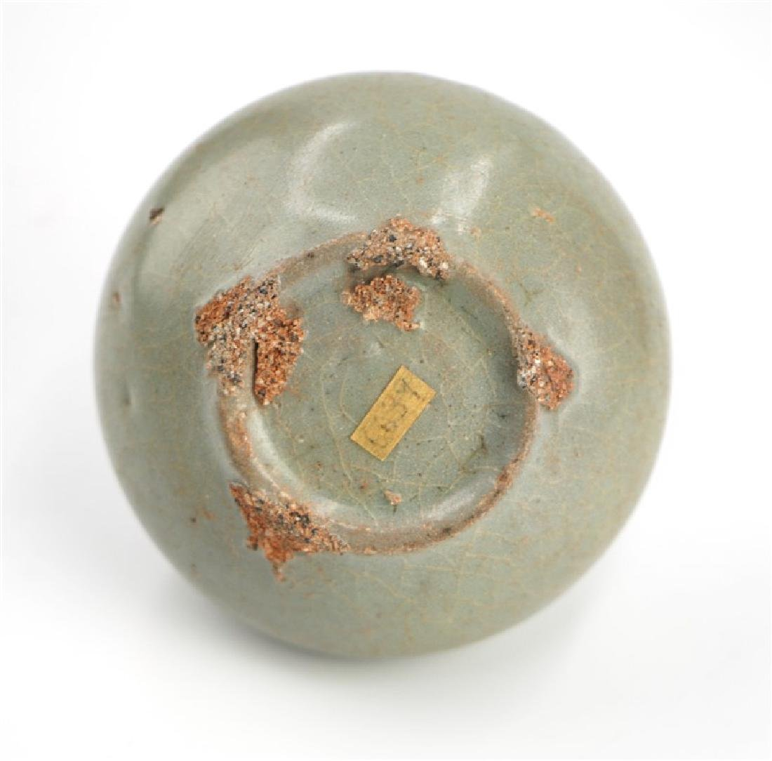 KOREAN CELADON OIL FLASK; GORYEO DYNASTY (918-1392) - 3