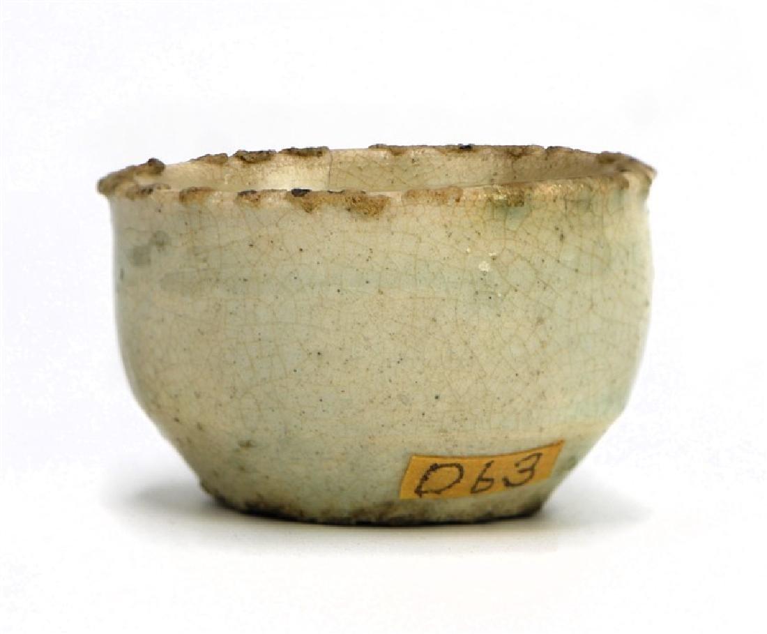 KOREAN WHITE GLAZE CUP; JOSEON DYN(1394-1897)