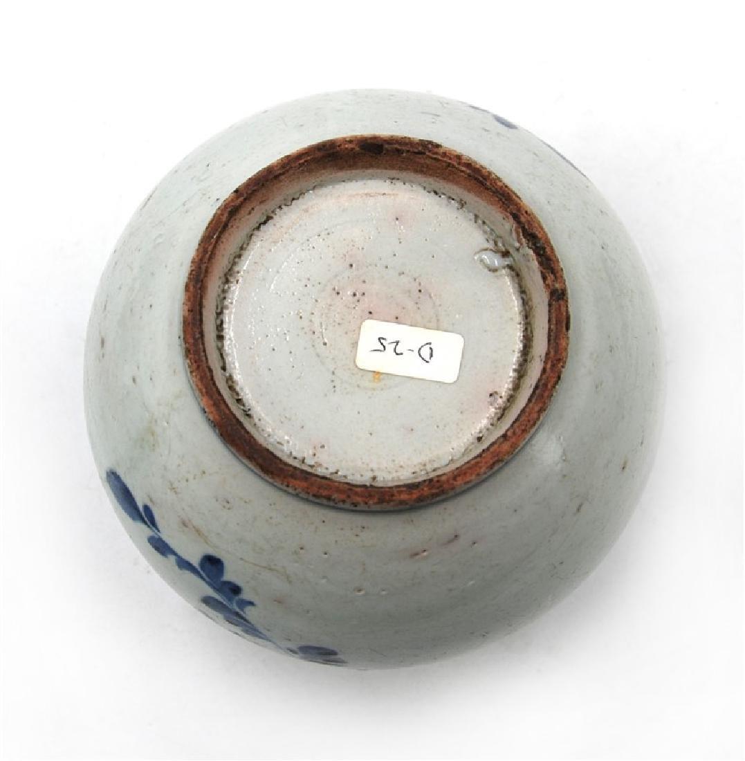 KOREAN BLUE AND WHITE MOON JAR; JOSEON DYN (1394-1897) - 4
