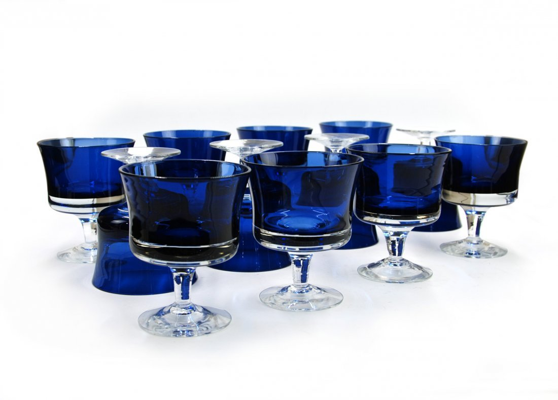 GEORG JENSEN 12 DESSERT GLASS SET