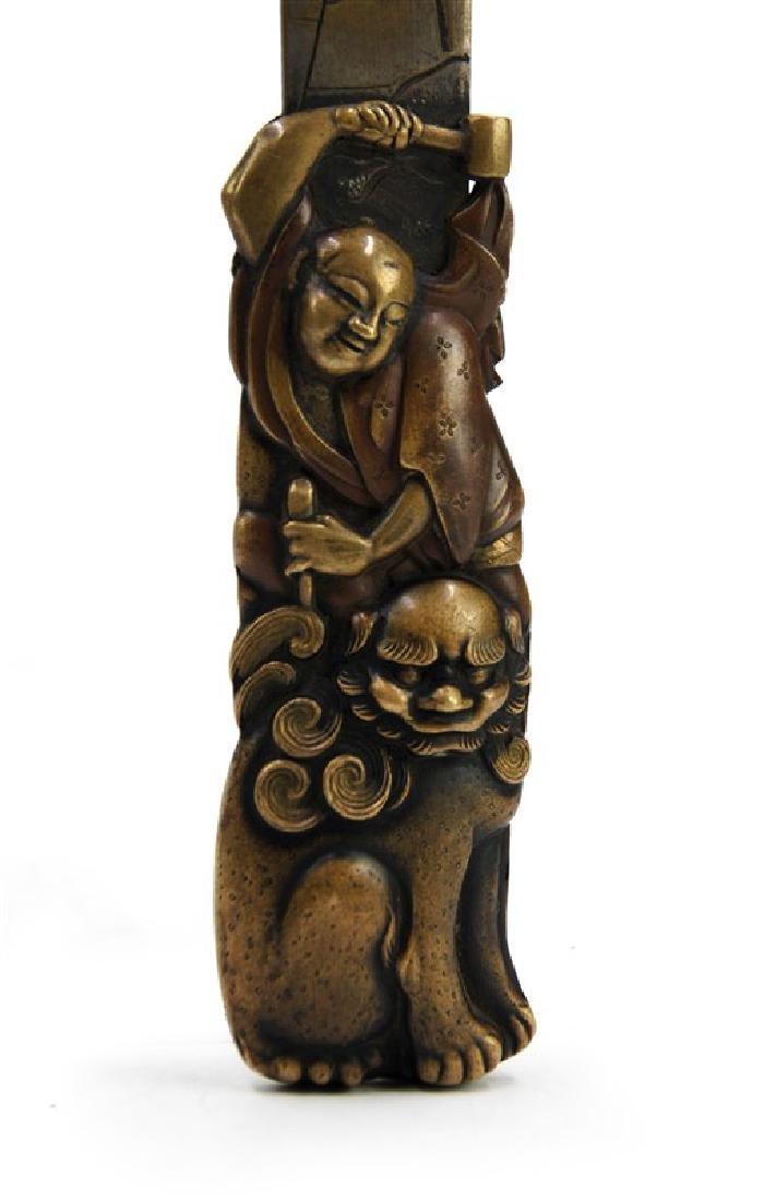 JAPANESE BRONZE KNIFE; EDO PERIOD (1603-1867) - 3
