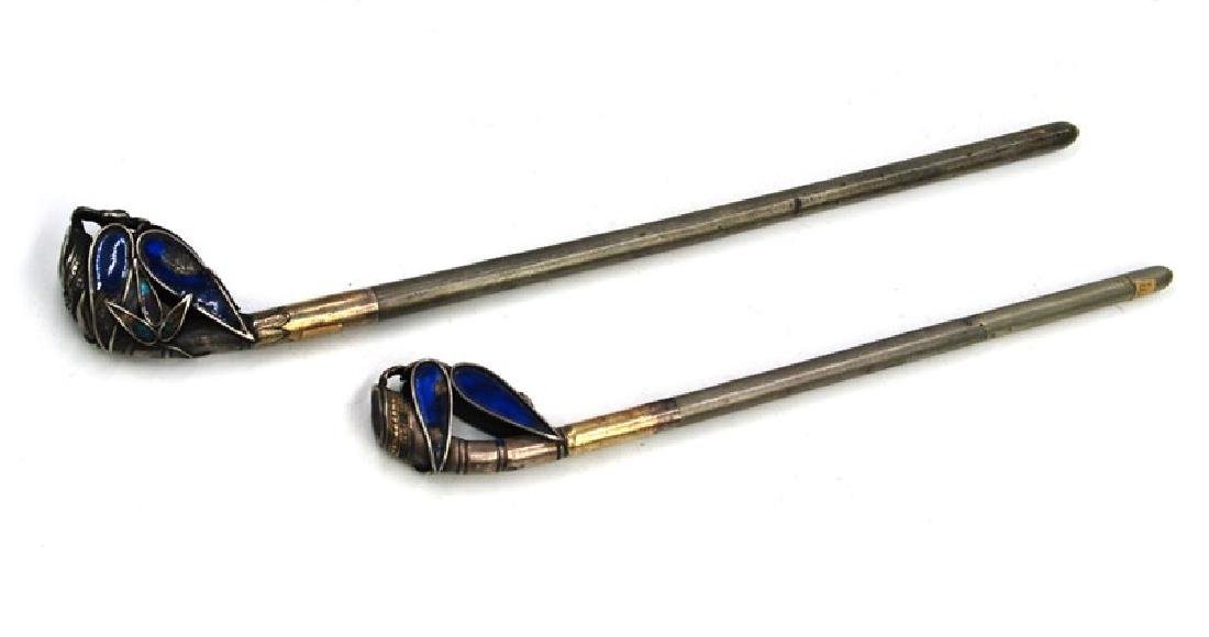 KOREAN ENAMEL HAIR PINS PAIR