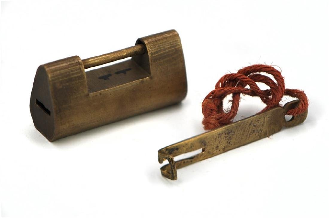 Copper Lock and key