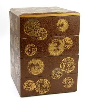 GOLD LACQUER STACK BOX