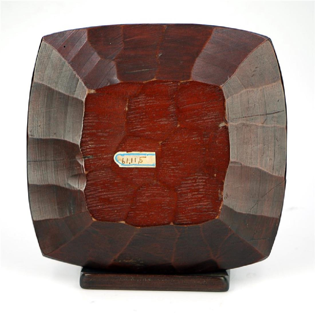 JAPANESE CARVED WOODEN PLATE - 2