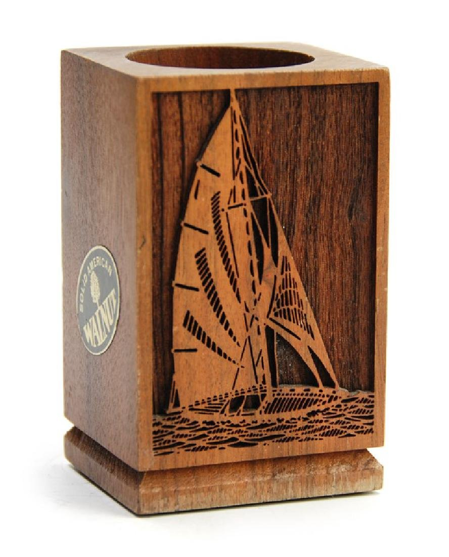 WOOD PENCIL HOLDER SHIPS