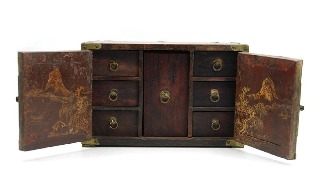 KOREAN ANTIQUE SMALL CABINET WITH 7 DRAWERS - 2