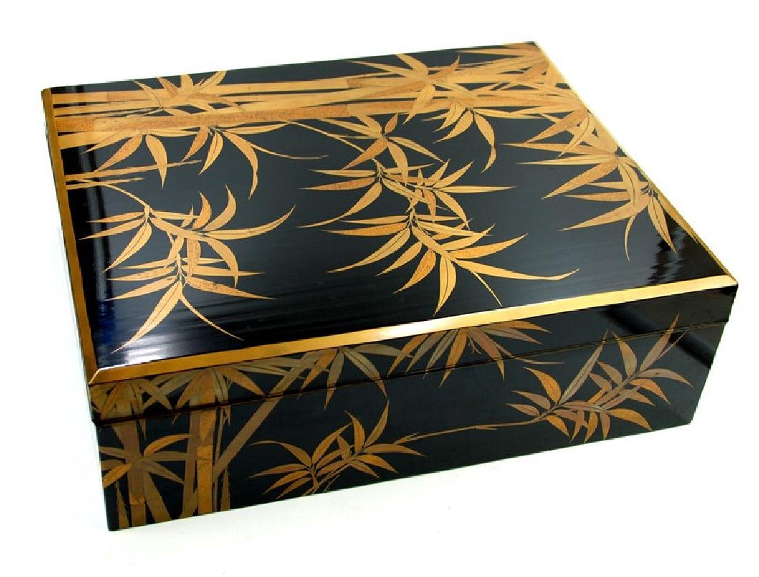 GOLD LACQUER BOX BAMBOO; EDO PERIOD (1603-1867)