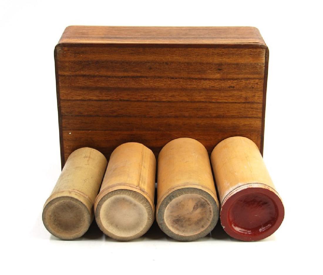 A BOX W/ 4 BAMBOO TUBES - 2