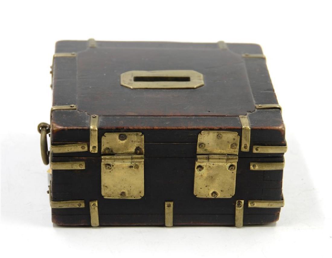 KOREAN IRON WOOD COIN BOX - 2