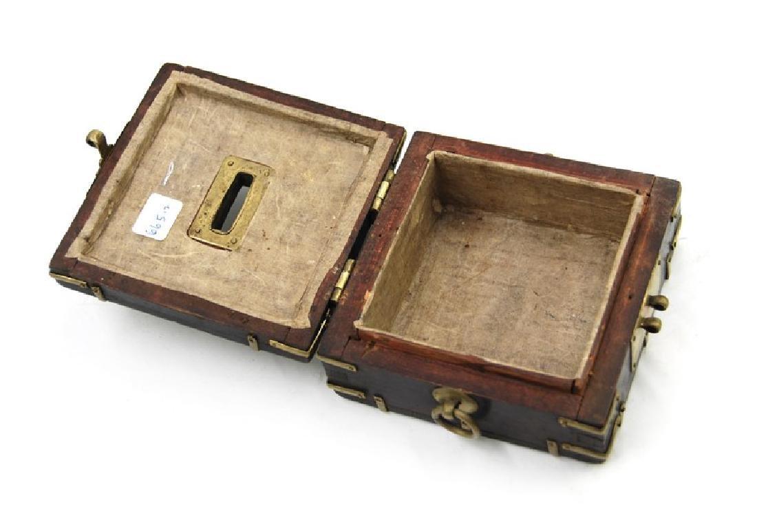 KOREAN IRON WOOD COIN BOX - 3