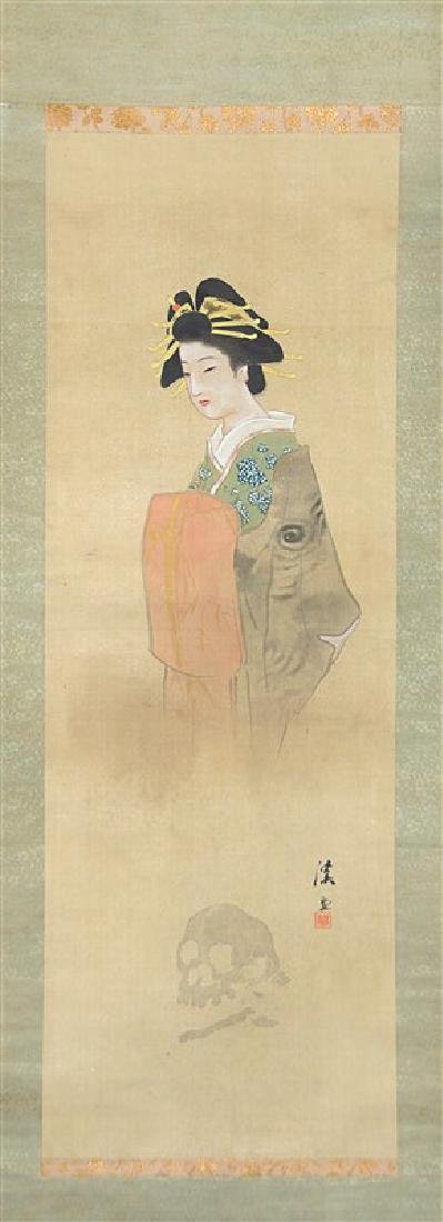 LADY GHOST SCROLL; EDO PERIOD(1603-1867)