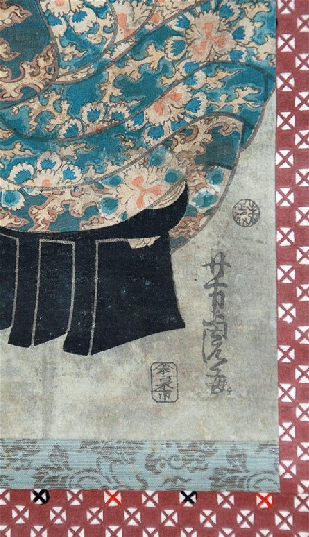 JAPANESE WOODBLOCK PRINT OF A GEISHA LADY - 2