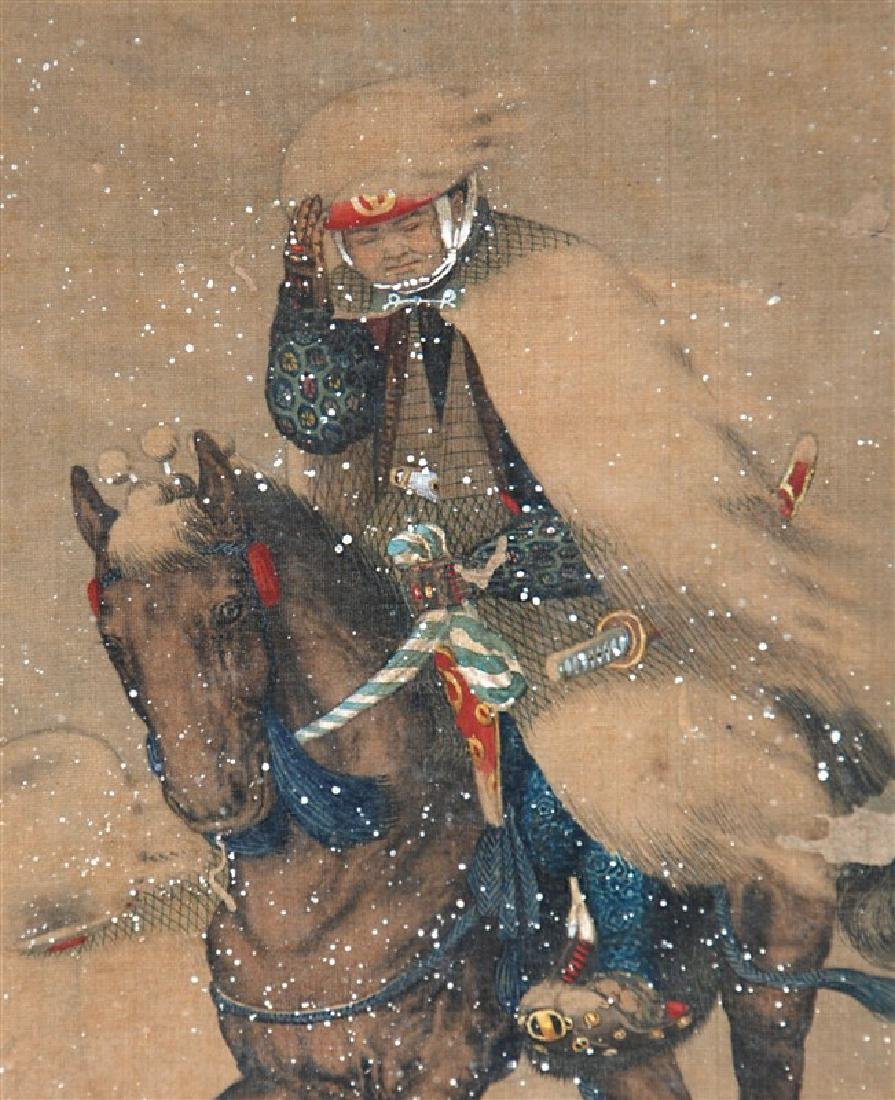 ANONYMOUS SCROLL HORSEBACK IN SNOW - 2
