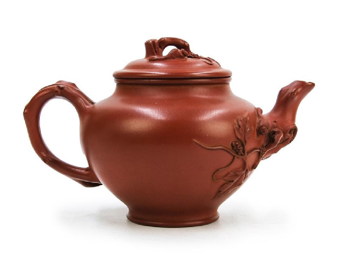 ZHUNI DAHONGPAO TEA POT (GRAPEVINE DECOR)
