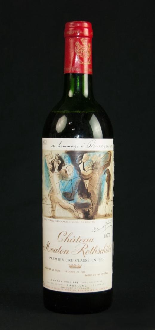 1973 CHATEAU MOUTON ROTHSCHILD CS PICASSO LABLE