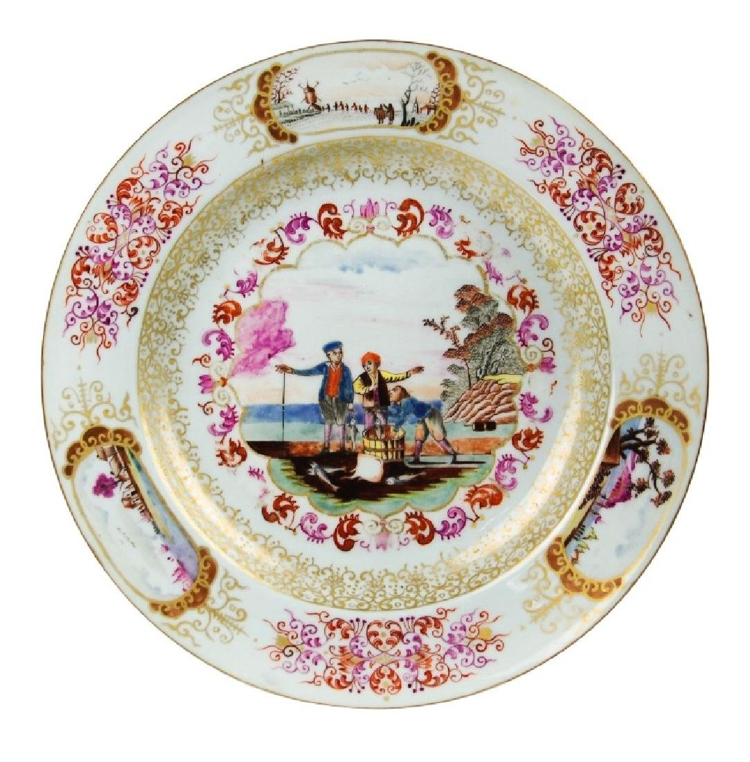 """A RARE CHINESE EXPORT""""EUROPEAN SUBJECT""""PLATE"""