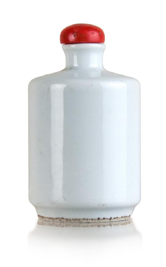 WHITE GLAZED SNUFF BOTTLE; GUANG XU PERIOD