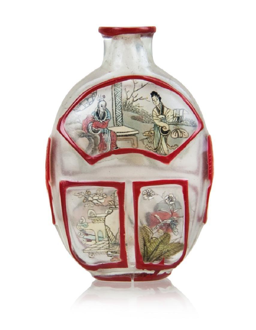 PEKING GLASS SNUFF BOTTLE,19TH CENTURY