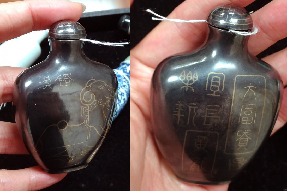 COLLECTION OF TEN SNUFF BOTTLES - 3