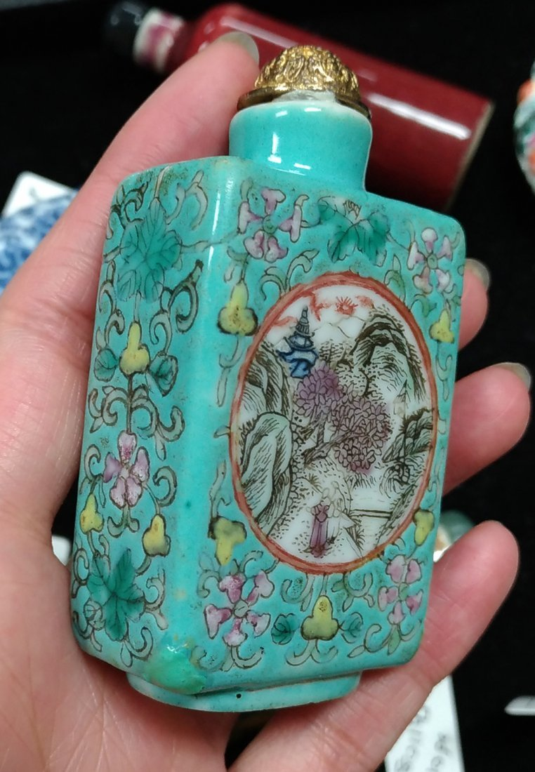 COLLECTION OF TEN SNUFF BOTTLES - 4