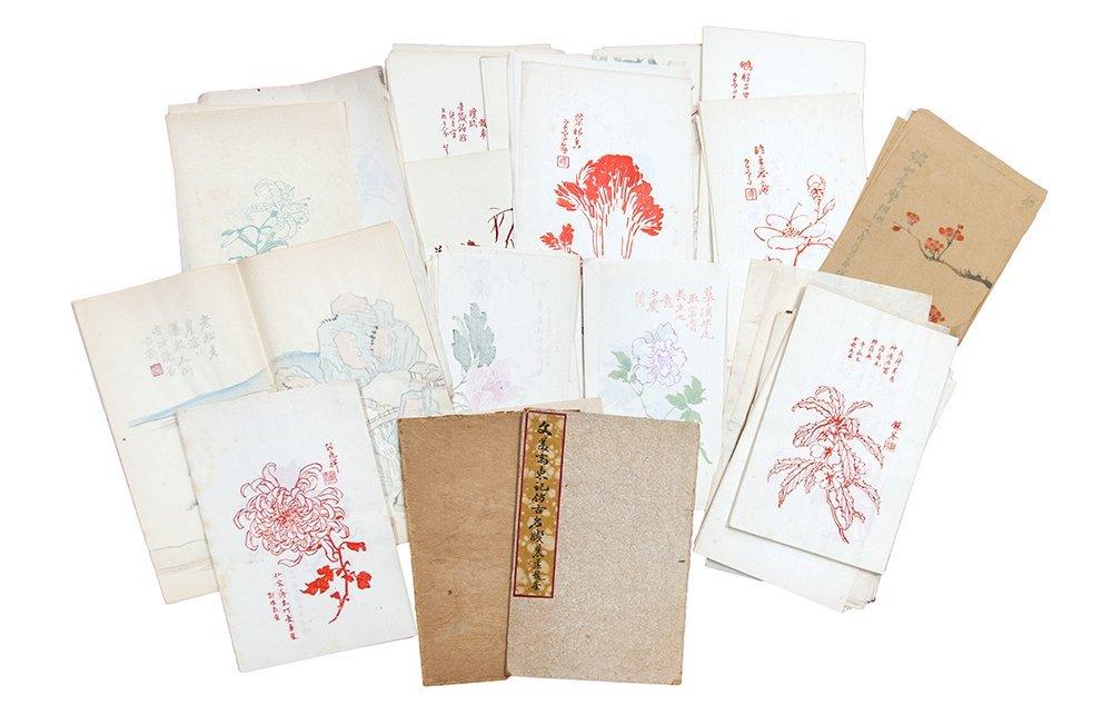 GROUP OF COPIES OF FLOWER PAINTINGS