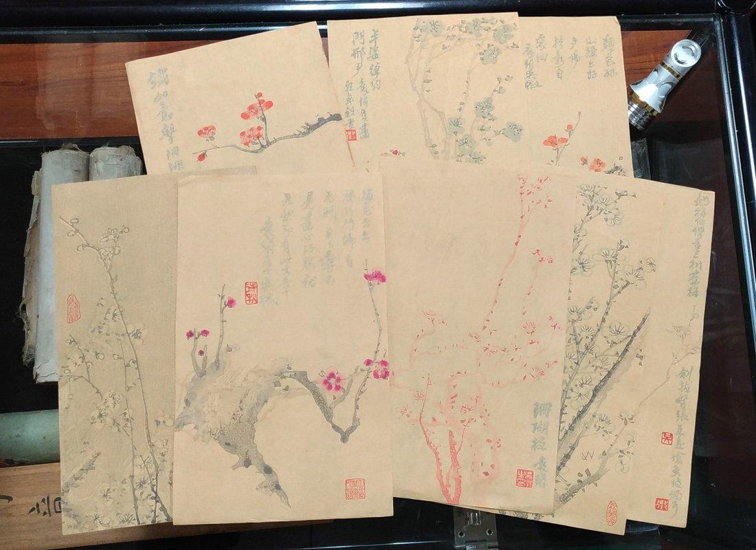 GROUP OF COPIES OF FLOWER PAINTINGS - 2