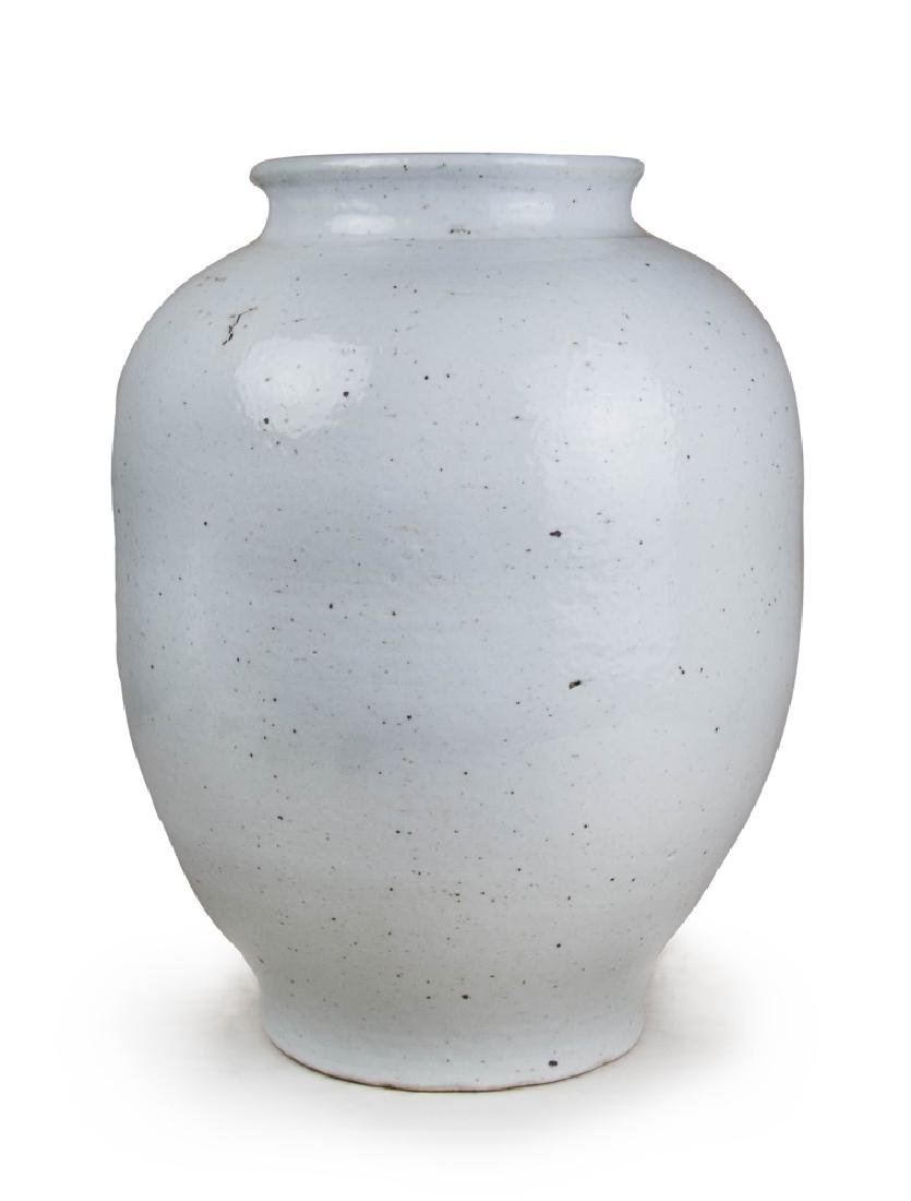 KOREAN LARGE WHITE GLAZED JAR