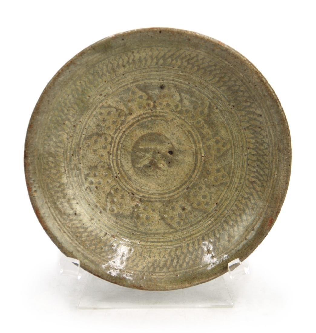 KOREAN CELADON PLATE; GORYEO DYNASTY (918- 1392)