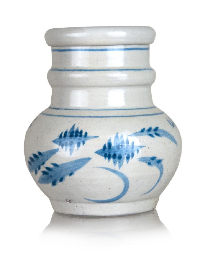 KOREAN BLUE AND WHITE RING JAR