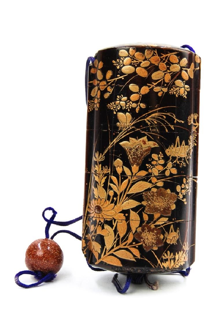 JAPANESE GILT LACQUERED INRO