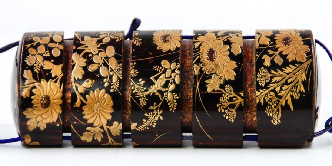 JAPANESE GILT LACQUERED INRO - 2