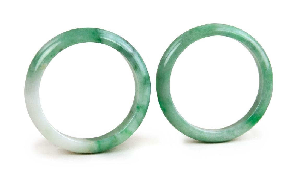 PAIR OF JADE CARVED BANGLES