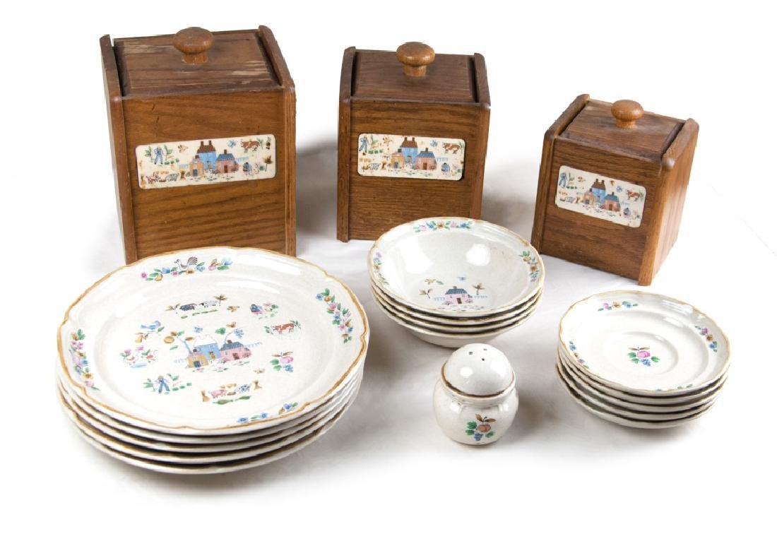 18PC DISH AND BOX GROUP
