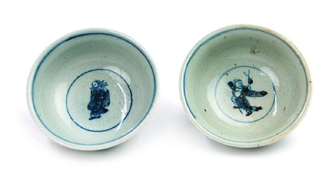 MING DYNASTY STYLE BLUE AND WHITE BOWLS - 3
