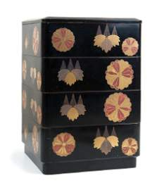 JAPANESE LACQUER STACKING BOX