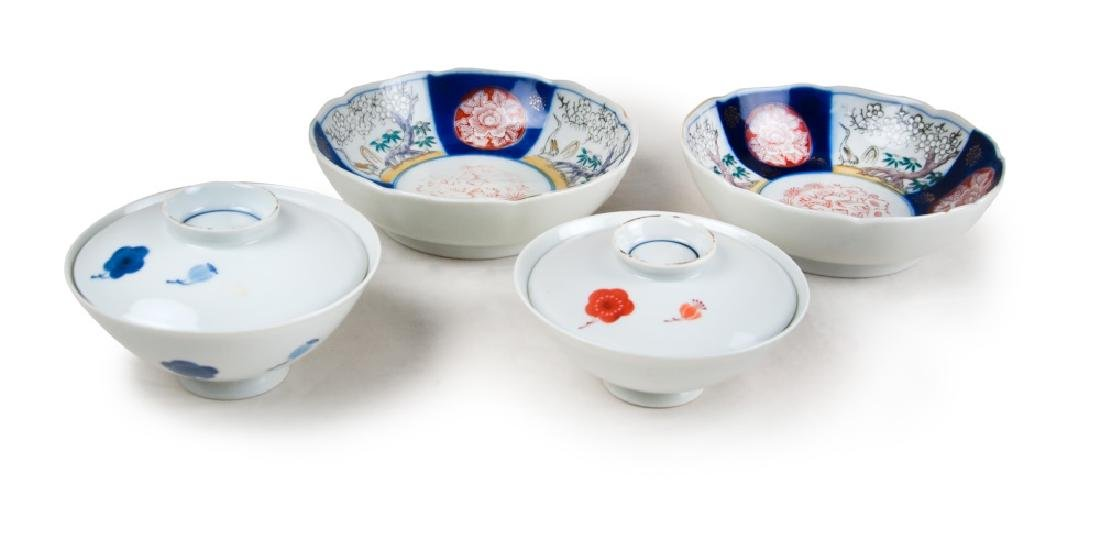 IMARI SET OF BOWLS AND CUPS