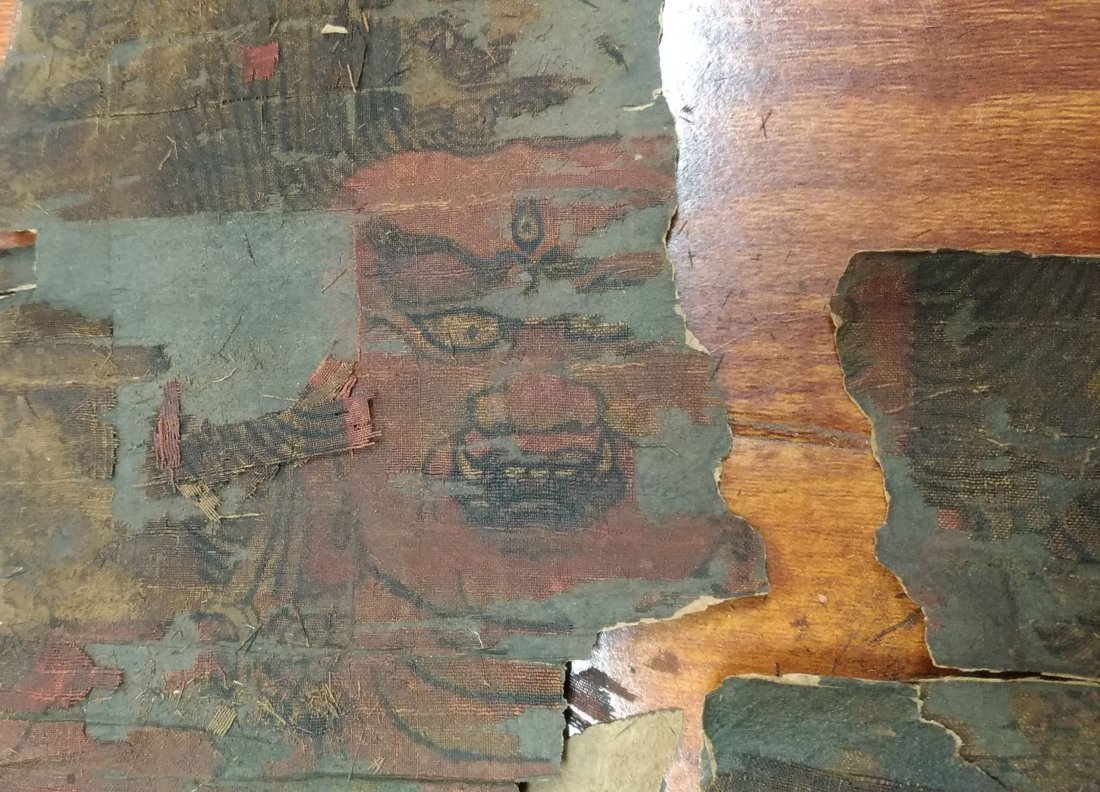 SCROLL PAINTING OF A JAPANESE DEITY - 5