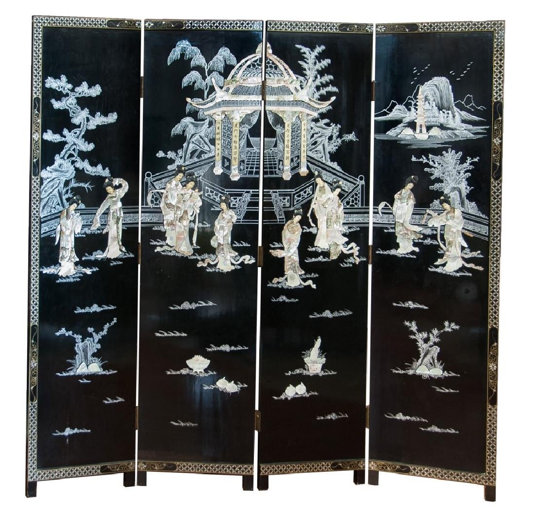 MOTHER OF PEARL INLAID ROOM SCREEN