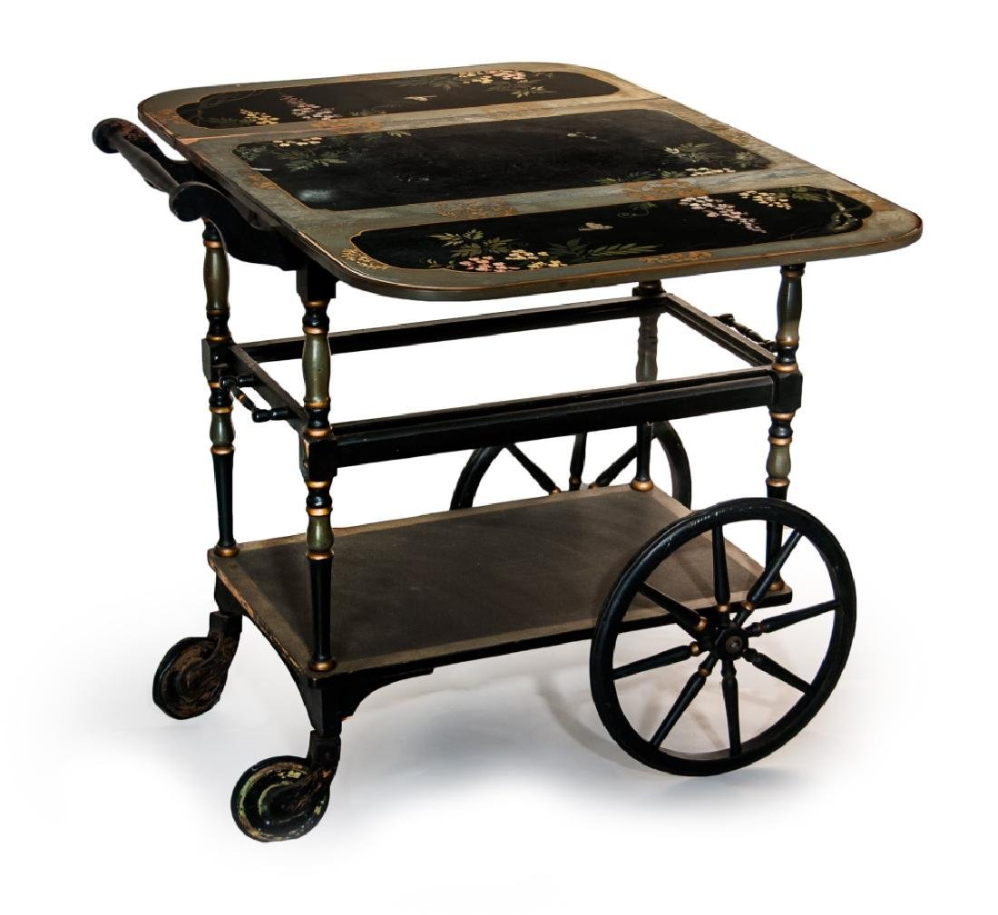 ROLLING SERVICE LACQUER CART