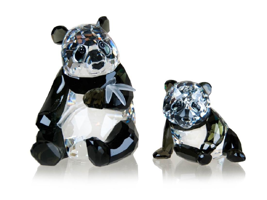 PAIR OF SWAROVSKI CRYSTAL PANDA BEARS