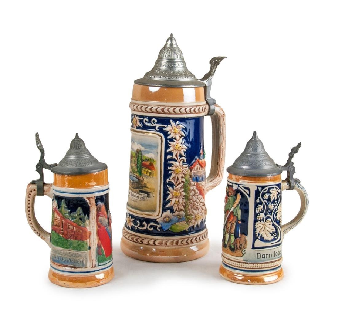 SET OF BEER STEINS