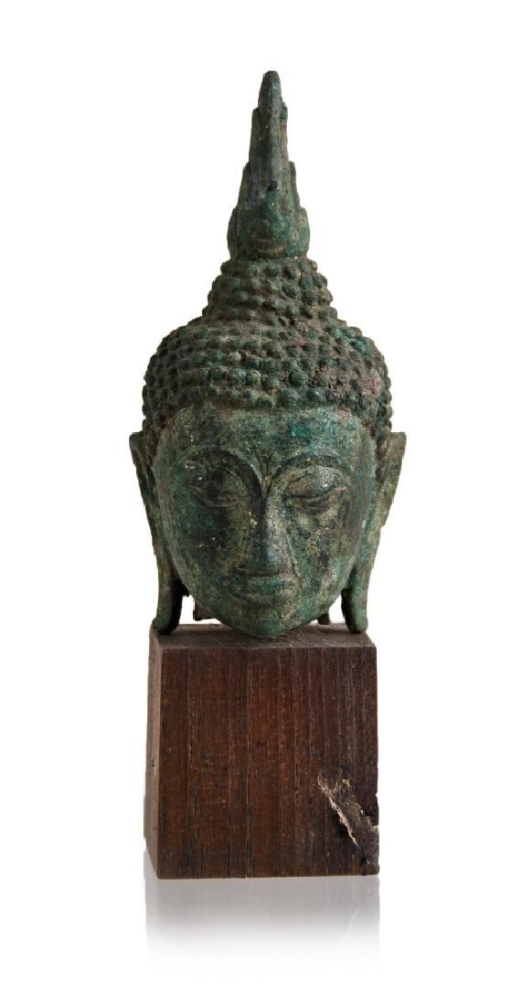 SMALL BUDDHA HEAD ON BASE
