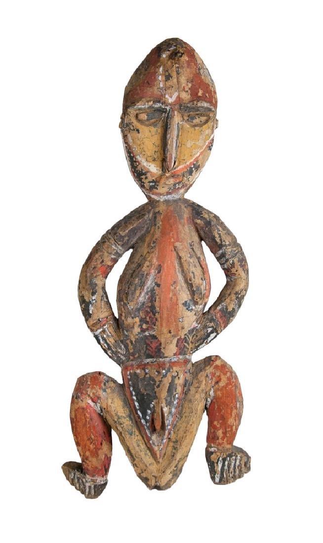 PAPUA NEW GUINEA PAINTED ANCESTRIAL FIGURE