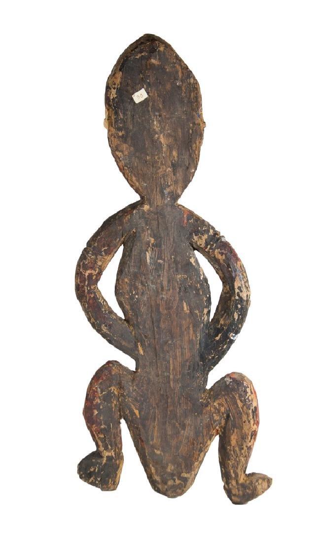 PAPUA NEW GUINEA PAINTED ANCESTRIAL FIGURE - 2