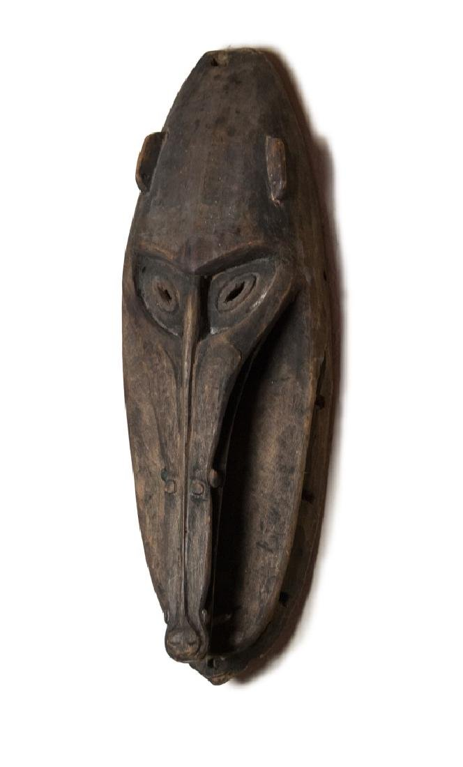 PAPUA NEW GUINEA WOOD CARVED BABOON MASK